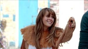 Maria in lion costume