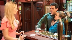 Eva: 'He hasn't even bought you a drink.' Jason: 'Maybe she's not that cheap.'