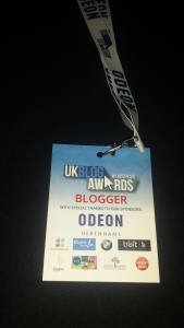 UK Blog Awards 2016 blogger lanyard