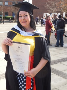 Emma Hynes graduates from DCU with an MA in Film and Television Studies March 2015