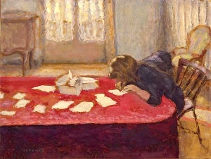 Pierre Bonnard Young Woman Writing