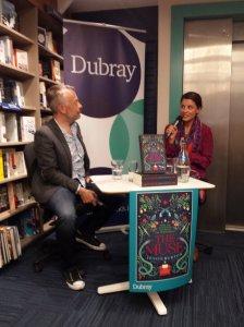 Rick O'Shea and Jessie Burton at Dubray Books, Dublin. 5 July 2016