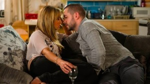 Maria and Aidan kiss Coronation Street 12 August 2016