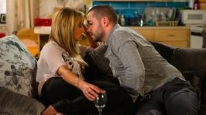 Maria and Aidan kiss Coronation Street 12 August 2016