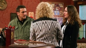 Peter vies with Chloe for the Rovers - Coronation Street