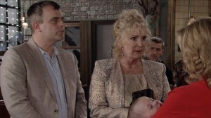 Liz and Steve at the Bistro - Coronation Street